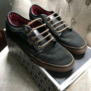 32a3567523b7 Vans Shoes - Mens Vans Chukka Low Black Gum Flannel Shoes sz 11